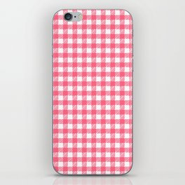 Picnic Pals gingham in strawberry iPhone Skin