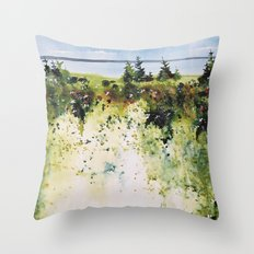 along Sainte Mary's Bay, Nova Scotia Throw Pillow