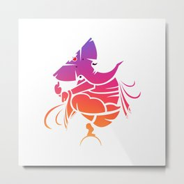 Lord Ganesha Pride Metal Print