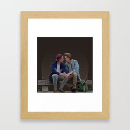LOVE, EVAK. (dark version) Framed Art Print