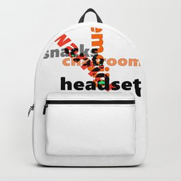 Chatroom Warrior Graphics - Font Art Backpack