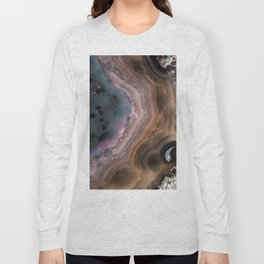 Multi colored agate slice Long Sleeve T-shirt