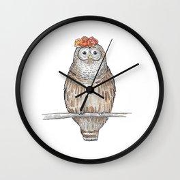 Fancy Owl Wall Clock
