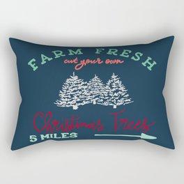 Cut your own Christmas Tree Sign Rectangular Pillow
