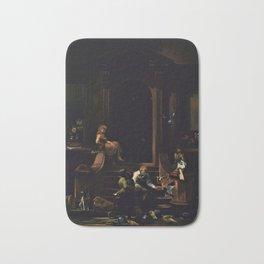 American Masterpiece 'Brownstone Front Stoop - New York' by Artist Unknown Bath Mat