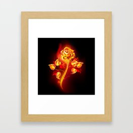Fire Rose Framed Art Print