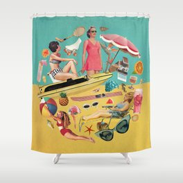 Out of Office Shower Curtain