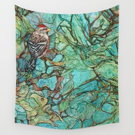 The Aquamarine Labyrinth (detail no. 3) Wall Tapestry