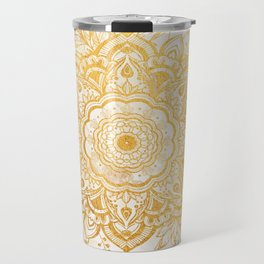 Queen Starring of Mandala-Gold Sunflower I Travel Mug
