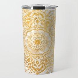 Queen Starring of Mandala-Gold Sunflower I Travel Mug
