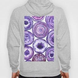 Purple agate pattern watercolor Hoody