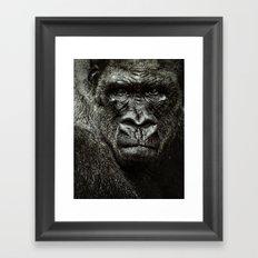 mad gorilla Framed Art Print