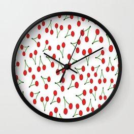 Cherry vs. Cereza Wall Clock