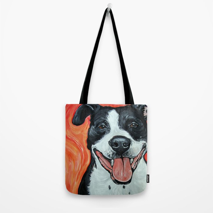Black & White Adorable Pit Bull  Tote Bag