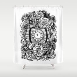 Bomb in the flowers Shower Curtain
