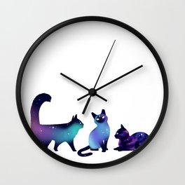 Galaxy Kitties Wall Clock
