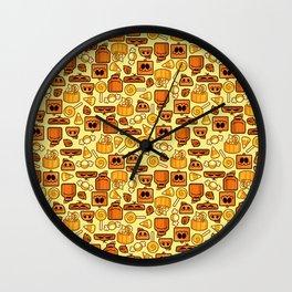 Pumpkin Patch Pileup Wall Clock