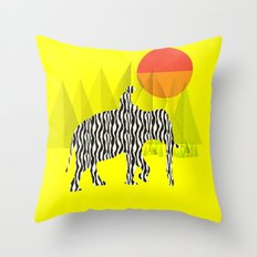 Zelephant - Mahout & Elephant Throw Pillow