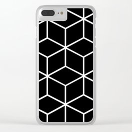 Black and White - Geometric Cube Design II Clear iPhone Case