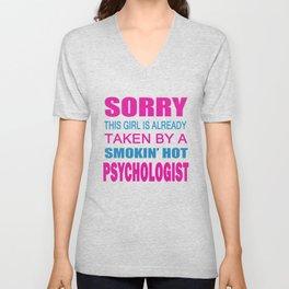 TAKEN BY A PSYCHOLOGIST Unisex V-Neck