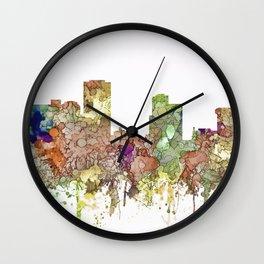 Little Rock, Arkansas Skyline - Faded Glory Wall Clock