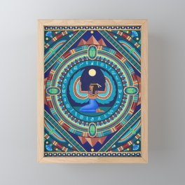 Egyptian Goddess Isis mandala by Soozie Wray Framed Mini Art Print