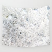 concrete Wall Tapestries featuring White Concrete by The Wellington Boot