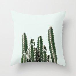 Blue Sky Cactus Throw Pillow