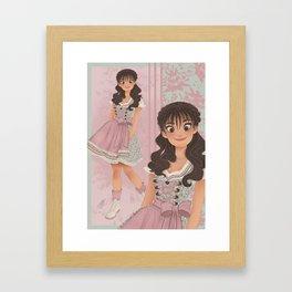 OKTOBERFEST Pink Dirndl Girl Framed Art Print