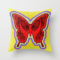 Henna Butterfly No. 2 Throw Pillow