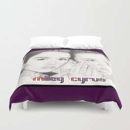 miley vs. miley Duvet Cover