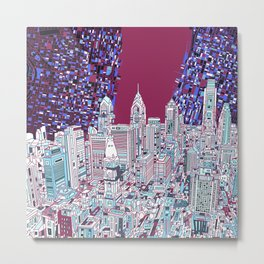 philadelphia city skyline Metal Print
