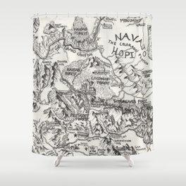 Hand-Drawn Arizona Map Shower Curtain