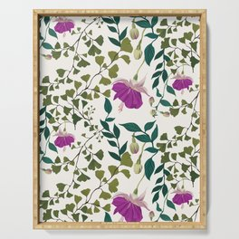 Fuchsia and Ferns Serving Tray