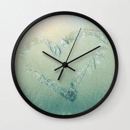 Winter Romance Wall Clock