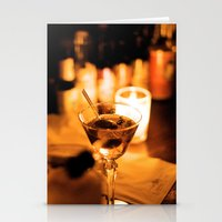 martini Stationery Cards featuring Martini by Ann Yoo