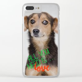 All you need is love. Clear iPhone Case