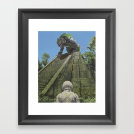 Green Lion Framed Art Print