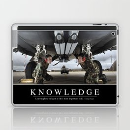 Knowledge: Inspirational Quote and Motivational Poster Laptop & iPad Skin
