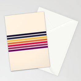 Imera - Classic 70s Vintage Style Retro Stripes Stationery Cards