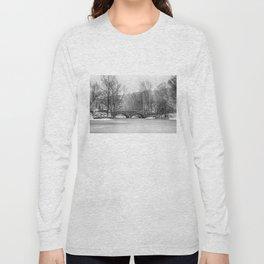 Stone Bridge at Clove Lakes Staten Island Long Sleeve T-shirt