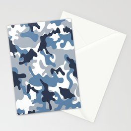 Blue and White Camo Stationery Cards