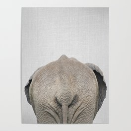 Elephant Tail - Colorful Poster