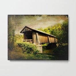 Livingston Manor Covered Bridge Metal Print