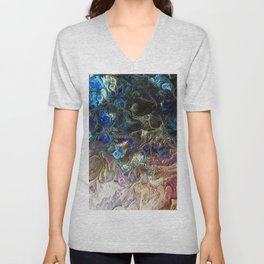 Currents 1 (Abstract Dachshund) Unisex V-Neck