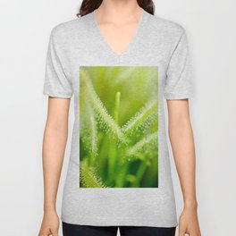 Green leaves of sundews Unisex V-Neck