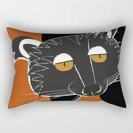 Black bear cat Rectangular Pillow