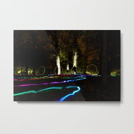 They come out at night. Metal Print