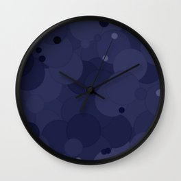 Peacoat Bubble Dot Color Accent Wall Clock