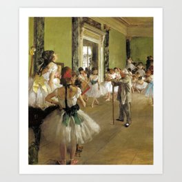 Edgar Degas The Dance Class Art Print